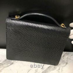 LOUIS VUITTON Monceau Affaires Main Sac Epi Noir Noir Cuir M52792 Vintage