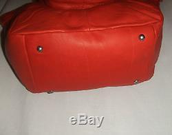 Lancaster 5778 Soft Vintage Sac Porte Main /bandoulière Cuir De Vachette Corail