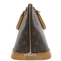 Louis Vuitton Alma Main Sac Marron Monogramme Cuir M51130 Vintage Auth #DD953 O