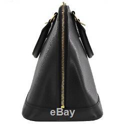 Louis Vuitton Alma Main Sac Noir Epi Cuir M40302 Vintage Authentique #Q198 Z