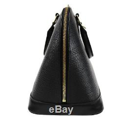 Louis Vuitton Alma Sac à Main Noir Cuir Eppi M52142 Vintage Authentique #Z230 W