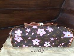 Louis Vuitton, Brown Monogram Murakami Cherry Blossom Sac Retro Bag TBE