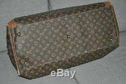 Louis Vuitton Grand Sac/Bagage en Toile enduite et cuir vintage TBE