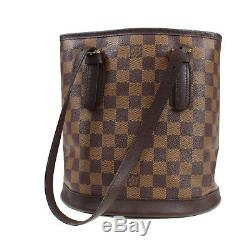 Louis Vuitton Marais Sac à Main Marron Ebene Damier N42240 Vintage Auth #M618 W