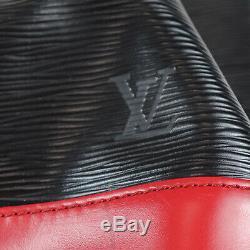 Louis Vuitton Noe Épaule Sac Rouge Noir Cuir Eppi M44017 Vintage