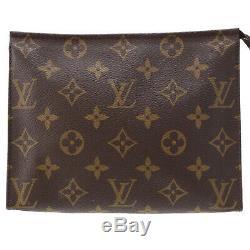Louis Vuitton Poche Toilette 19 Sac Pochette Monogramme M47544 Vintage Auth