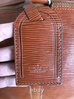 Louis Vuitton Sac KeepAll Cuir Epi 55 Cm Marron (pas en tissu!)