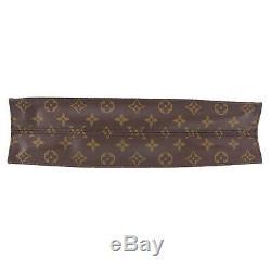 Louis Vuitton Sac Plat Fourre-Tout à Main Monogramme Toile M51140 Vintage Auth #