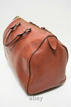Louis Vuitton Sac speedy 35 en cuir épi cognac