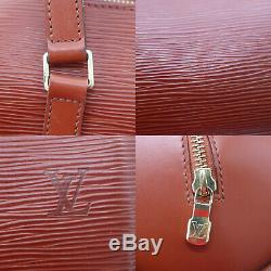 Louis Vuitton Soufflot Main Sac Marron Cuir Eppi M52223 Vintage Auth #CC9 I