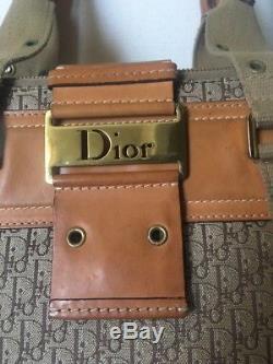 Magnifique Sac Dior Vintage en Toile Monogramme Et Cuir, toutes saisons