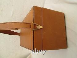 Magnifique VANITY en cuir vintage sac bag