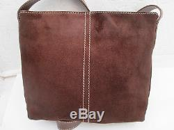 Magnifique sac à main LANCEL daim suédé et cuir TBEG vintage bag