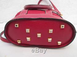 -Magnifique sac à main SALVATORE FERRAGAMO cuir/toile TBEG bag vintage