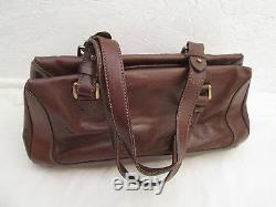 Magnifique sac à main THE BRIDGE cuir TBEG vintage bag /