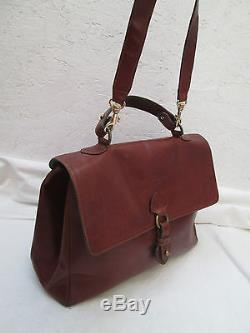 Magnifique sac à main style Docteur VINTAGE J. B. CELI en cuir TBEG bag