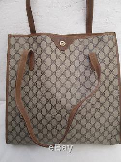 -Magnifique sac à main type cabas GUCCI cuir/autres TBEG bag vintage