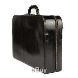 Mallette homme Hermès vintage en cuir box noir