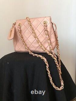 Mini Sac Chanel Vintage Rose Matelasse