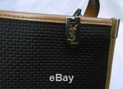 Mini Sac Vintage Toile et Cuir Yves Saint Laurent genre Amazone comme NEUF