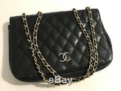 Pochette Chanel Vintage Cuir double lanière (pochette ou sac à main)