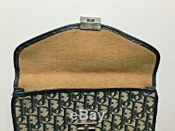 RARE superbe pochette vintage sac monogrammée CHRISTIAN DIOR bleue etui ipad bag