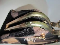 ROBERTA DI CAMERINO CARAVEL rare sac cuir velour vintage bag