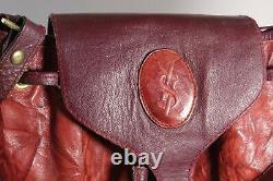 Rare Sac à Main Bandoulière en Cuir Rouge Yves Saint Laurent VINTAGE Leather Bag