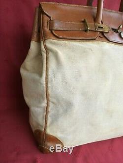 Rare sac hermès haut a courroies 50 vintage (1940 / 1950)