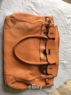 SAC BAYSIDE chantal B, modèle milan orange vintage, cuir vieilli