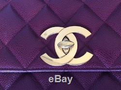 SAC CHANEL VINTAGE 2.55 Cuir Caviar Bordeaux matelassé HAND BAG