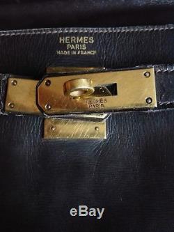 SAC KELLY 32 HERMÈS BOX havane VINTAGE 1975