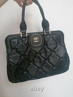 Sac A Main En Cuir Noir Longchamp Vintage