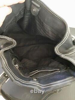 Sac A Main Prada vintage en cuir, Bag leather Prada