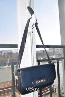 Sac CELINE vintage Bandouliere Bleu Marine