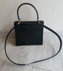 Sac CÉLINE vintage en cuir noir / HAND BAG CÉLINE VINTAGE / CÉLINE