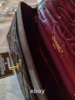 Sac CHANEL Timeless Classique vintage medium cuir d'agneau noir boîte certificat