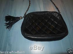 Sac Chanel En Cuir Vintage Avec Pompons! Authentique! A Voir 4d345d38c94