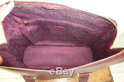 Sac Cartier cabas en cuir prune et pochette trieur vintage Cartier bag and pouch