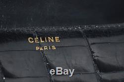 Sac Celine Cuir Croco Vintage