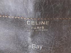 Sac Céline Vintage cuir et toile beige
