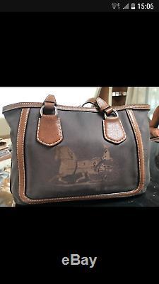 Sac Céline vintage TBE marron en tissu et cuir