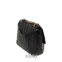 Sac Chanel 2.55 vintage en cuir matelassé noir