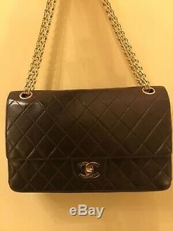 Sac Chanel AUTHENTIQUE Timeless Vintage Cuir Marron Matelassé