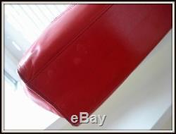 Sac Chanel Cuir rouge made Italie vintage authentique! Bag borsa Prix Ferme