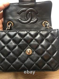 Sac Chanel Mini vintage En Cuir De Veau