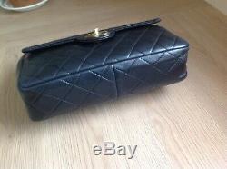 Sac Chanel Timeless Magnifique Sac Vintage Cuir Noir Matelasse