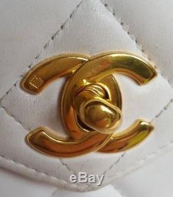Sac Chanel Vintage en cuir blanc