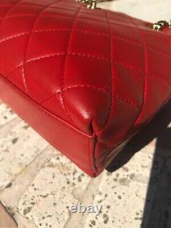 Sac Chanel Vintage en cuir rouge 2000-2002