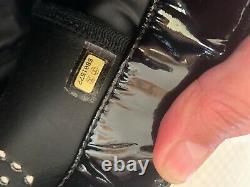 Sac Chanel vintage vernis noir